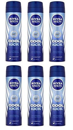 6 x Nivea Men Cool Kick 48h Anti-Perspirant 150ml by Nivea Men