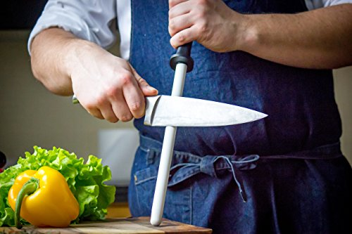 Green Elephant Ceramic Sharpening Rod, Lightweight & Highly Durable 11-Inch Shatterproof Ceramic Honing Rod For Professional Chefs and Home Cooks