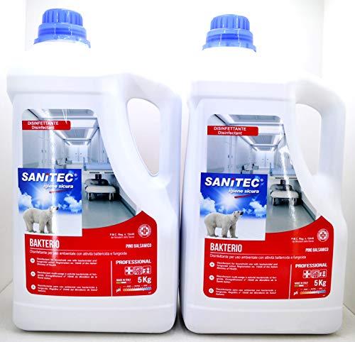 SANITEC detersivo disinfettante Bakterio Professionale battericida e fungicida 2 taniche da 5 kg cadauna Codice: B07H89462F