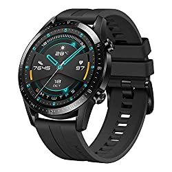 Image of HUAWEI Watch GT 2 2019 Bluetooth SmartWatch, Longer Lasting 2 Weeks Battery Life, Waterproof, Compatible with iPhone and Android, 46mm No Warranty International Version (Matte Black): Bestviewsreviews