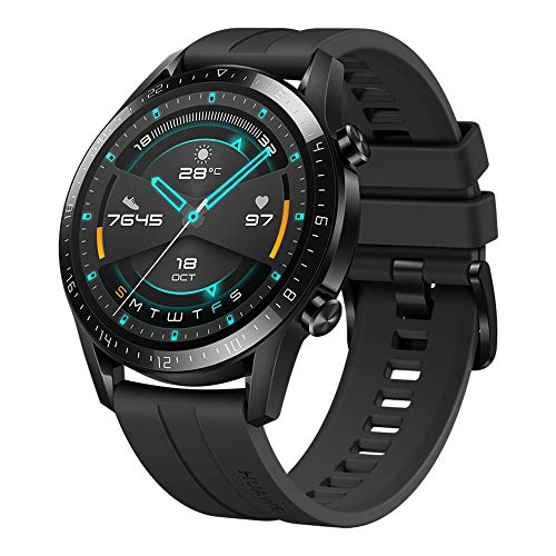 Huawei Watch Gt 2 - Reloj Inteligente, 46Mm, 3D Glass Screen, Bluetooth, Negro