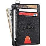SARCCH Slim Minimalist Front Pocket RFID Blocking Wallets, Credit Card Holder with Disassembly D-Shackle for Men Women (Y138-14) rfid blocking sleeves Dec, 2020