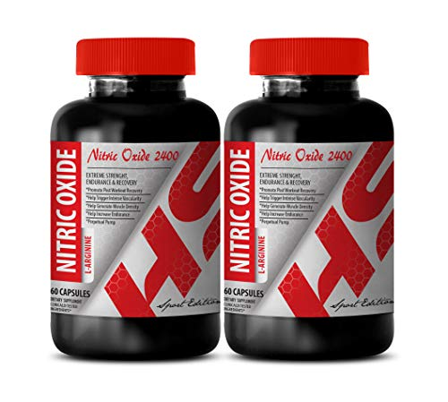Nitric Oxide Bulk Supplements - Nitric Oxide L-ARGININE 2400MG - Improve in Sex Drive (2 Bottles)