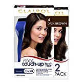 Clairol Root Touch-Up by Nice'n Easy Permanent Hair Dye, 4 Dark Brown Hair Color, 2 Count