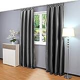 Gräfenstayn® Figura - cortina de oscurecimiento con bucles - 140 x 245 cm (ancho x alto) - opaca - muchos colores...