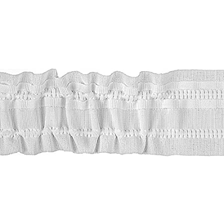 EUR 0,49//M 10 MTR Universal kräuselband//gardinenband Blanc