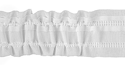 Ruther & Einenkel Kräuselband 50 mm, variabel/Aufmachung 10 m, Polyester, weiß, 1000 x 5 x 0.2 cm