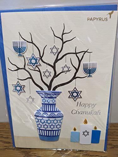 PAPYRUS Chanukah Hanukkah Card, 1 Each