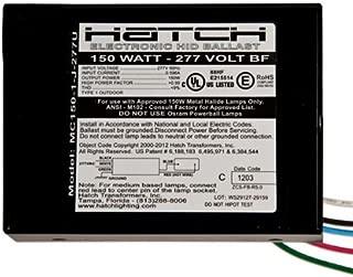 Hatch MC150-1-J-277U - 150 Watt - 277 Volt - Electronic Metal Halide Ballast - ANSI M102/M142/S56 - Bottom Feed Mounting With Studs