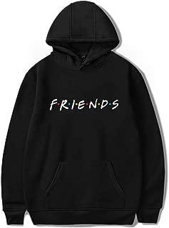 Friends Logo Pullover Hoodie - Casual Friends Hooded Sweatshirt Long Sleeve Pullover Sweatshirt Unisex Hoodie,Black,XXXXL