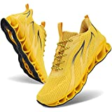 MOSHA BELLE Running Shoes Men Breathable Yellow Sport Air Fitness Athletic Gym Jogging Sneakers 13