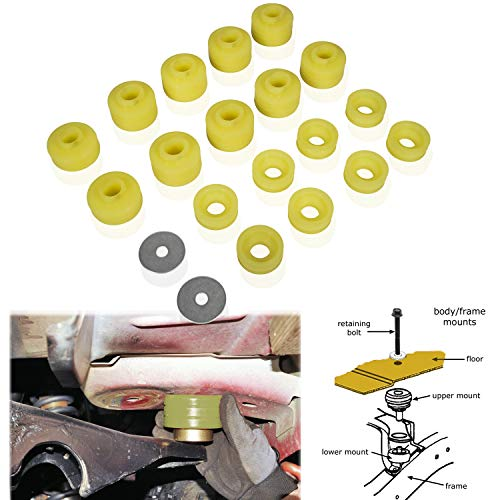 Polyurethane Body Mounts KF04050BK Fit for Ford F250/350 1999 to 2017 2/4WD