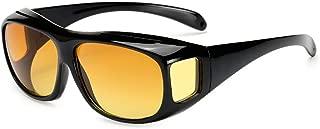 Hd Vision Wrap Arounds Tv Occhiali da sole Occhiali multifunzionali per la visione notturna Nero