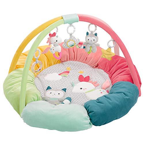 Fehn 057195 3-D-Activity-Nest Aiko & Yuki – Besonders weich gepolstert für besten Komfort – Spielspaß für Babys und Kleinkinder ab 0+ Monaten – Durchmesser: 85 cm