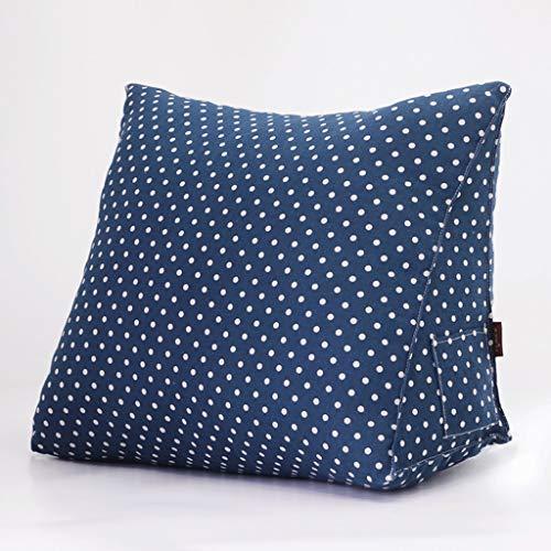 WXH Cushions Cojín Cama Suave reposacabezas Cojín Triangular Cintura Cojín Sofá Tatami Bay Ventana Cintura Cojín Big Back A +, 2#, 50×35×20cm