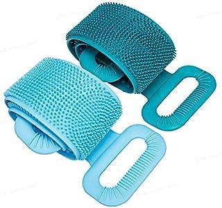 Camtoa - cepillo para polvo de baño de silicona para ducha, cepillo para polvo de cuerpo de baño largo y exfoliante para e...