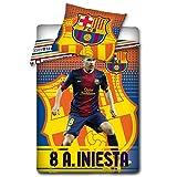 FC Barcelona Bettwäsche Set 160x200 cm A. Iniesta