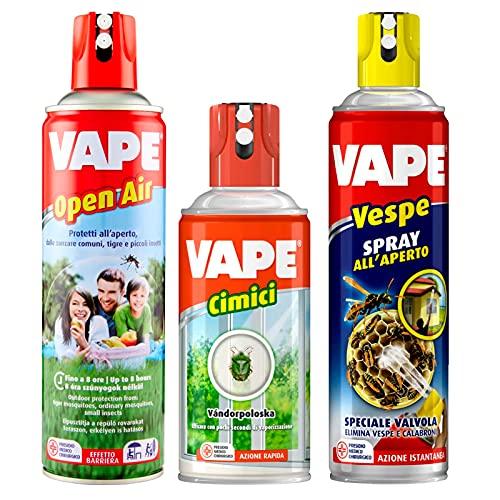 Vape Open Air Insetticida Insetti Zanzare Comuni e Tigre Spray da 500ml...