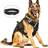 WINSEE Dog Harness No Pull, Pet Harnesses with Dog Collar, Adjustable Reflective...