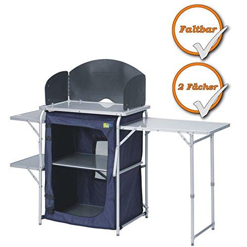 praktische campingkeuken - camping keukenkast - geschikt voor campingkokers - blauw