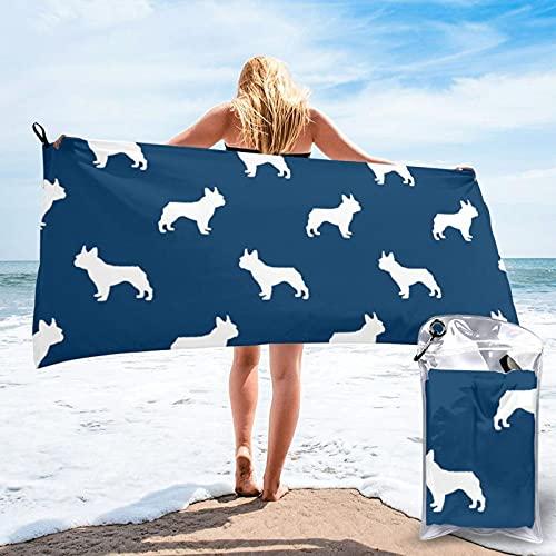 Dyfcnaiehrgrf n Toalla de baño de secado rápido, toalla de playa súper absorbente, toalla de playa de terciopelo de fibra superfina (31.5 pulgadas x 63.5 pulgadas)