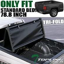 Topline Autopart Tri Fold Soft Vinyl Truck Bed Tonneau Cover For 14-18 Chevy Silverado/GMC Sierra 1500/15-18 2500 HD / 3500 HD/Denali 6.5 Feet (78