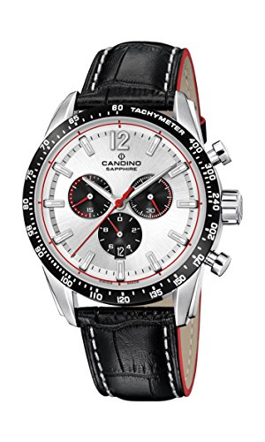 Candino Mens Chronograph Quartz Watch with Leather Strap C4681/1