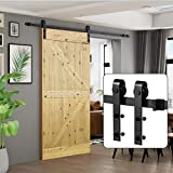 U-MAX 8 FT Heavy Duty Sturdy Sliding Barn Door Hardware Kit, J Shape Hangers, Super Smoothly and Quietly, Simple and Easy to Install, Fit 42-48' Wide Door Panel