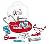 Smoby - Vanity Docteur - Jouet pour Enfant - Valise Mallette de Docteur - 15 Accessoires Médicaux - 340100