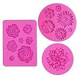 IHUIXINHE Stampo in silicone Accessori del fondente della decorazione torta al cioccolato stampi, stampi zucchero Torte, stampi di sapone (fiore)