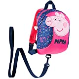 Peppa Pig Mochila Bebe Guarderia, Mochila Infantil, Mochila Escolar Con Arnes Para Bebes (Azul Marino/Rosa)