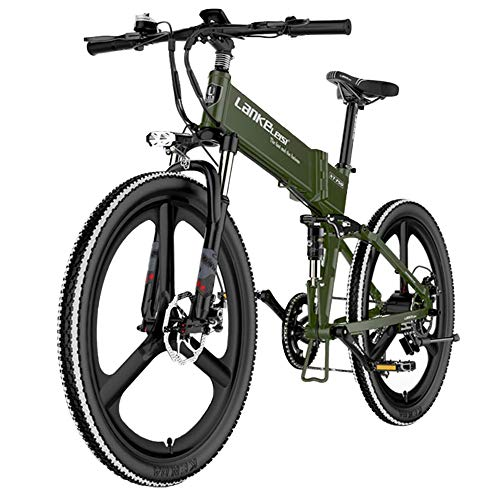 COKECO Electric Mountain Bike for Adults,480W Electric Bicycle 261.95 Inch Aluminum Frame 48V10.4Ah Lithium Battery Electric Folding Mountain Bike Assisted Bicycle 7 Speed