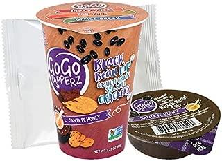 Santa Fe Style Honey Black Bean Dip and Multi-Grain Sea Salt Crackers - GoGo Dipperz Healthy On-the-Go Snack Packs - 2.25 oz (Case of 6)