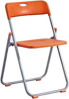 LQ Sedia da Ufficio Sedia Pieghevole più Facile da memorizzare sul Tavolo Che è più Facile da lavarsi Le Mani Multi-Ciano Livello di Tabella di espansione: 73CM Sedia da Ufficio (Color : Orange)