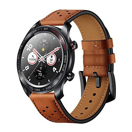 AISPORTS Voor Huawei Horloge GT Band Lederen 22 mm Vrouwen Mannen Polsband Armband Polsband Vervanging Band voor Huawei Horloge GT/Honor Horloge Magic/Samsung Galaxy Horloge 46mm/Gear S3/Ticwatch Pro BRON