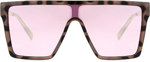lowest Foster sale Grant Women's Square Pink Shield outlet sale Tortoise Gold Sunglasses sale