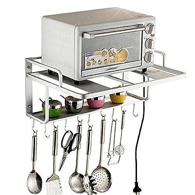 WINUS Microwave Oven Rack, 2 Tier Storage Rack Microwave Oven Shelf Kitchen Supplies Shelf Household Pot Rack Seasoning Storage Rack Shelves, Kitchen Organiser Holder Stand by
