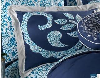 Dena burrda azul de almohada estándar