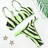 Ensembles De Bikini pour Femmes, Zebra Print String Taille Haute Spaghetti Strap Plus Size Bikini Sexy Swimsuit Ladies Swimming Costume Maillot De Bain pour Beach Bathing Pool Party, XL