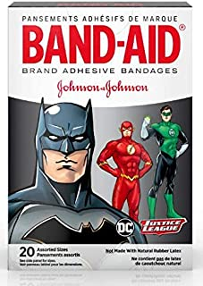 Band-Aid Brand Adhesive Bandages, Justice League, Assorted Sizes, 20 ct Each (1)