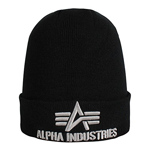 Alpha Industries 3D Beanie Schwarz