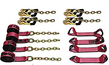 BA Products CURE38-218C 8 pt 18  Straps Rollback Tie Down Storage Bag Pink Breast Cancer Flatbed Tow Truck.Ratchets.USA