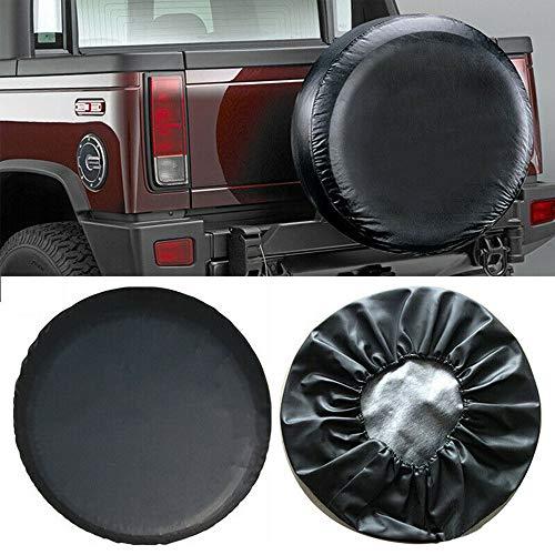 MASO Cubierta de rueda de repuesto para neumáticos de cuero, impermeable, protector solar de 16 pulgadas para coche, SUV, caravana (diámetros 75-78 cm)