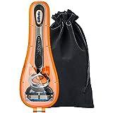 Anplus Gillette Rasierer Hülle, Rasierer Reise Etui mit Weiche Aufbewahrungstasche für Gillette Fusion ProGlide SkinGuard Sensor Excel Men's Manuelles Rasierer Premium (Orange)