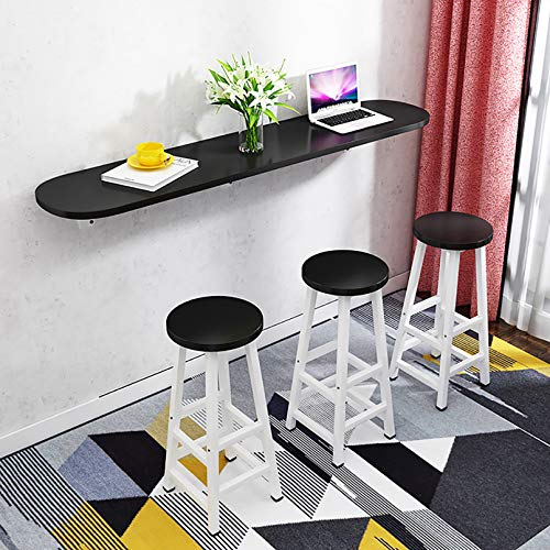 Wmb Wall-Mounted Table Wall-Mounted Folding Bar Table Home Small Apartment Kitchen Folding Dining Table Wall-Mounted Study Table