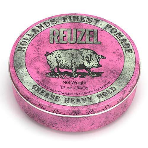 REUZEL INC Pink Pomade Grease, Heavy Hold, 12 oz