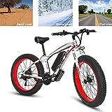 RDJM Bici electrica Electric Bike Adultos eléctrica de Bicicletas de montaña de 26 Pulgadas Power Assist cercanías de Bicicletas, batería de Litio de 48V 15AH 500W aleación de Aluminio de Ciclo de la