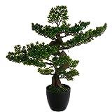 atmosphera bonsai artificiale in vaso, altezza 80 cm