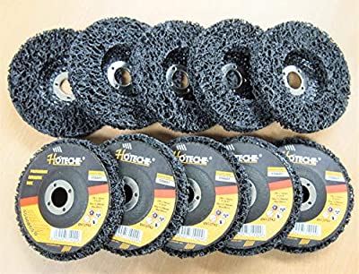"10PC 4"" x 5/8"" Polycarbide Abrasive Strip Disc Wheel Paint Rust Flaking Removal"