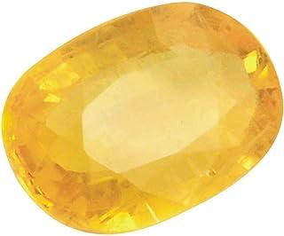 Tejvij And Sons Natural Yellow Sapphire Pukhraj Gemstone